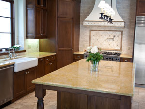 Granite And Country Kitchen Farmhouse Sink